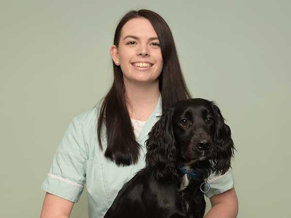 Abbeydale vet nurse training student Hannah Caton